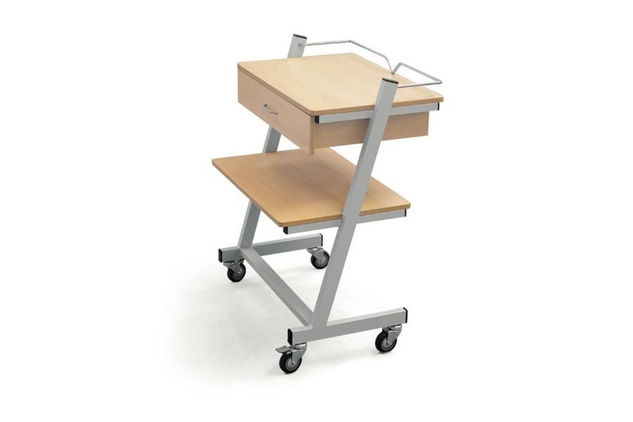 Mesa carrinho auxiliar para aparelhos com gaveta - Mesa auxiliar estetica ...