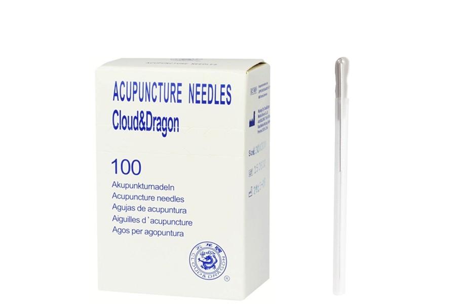 Agulhas de Acupunctura Com Guia - 0,16 x 25 mm (100 unidades)