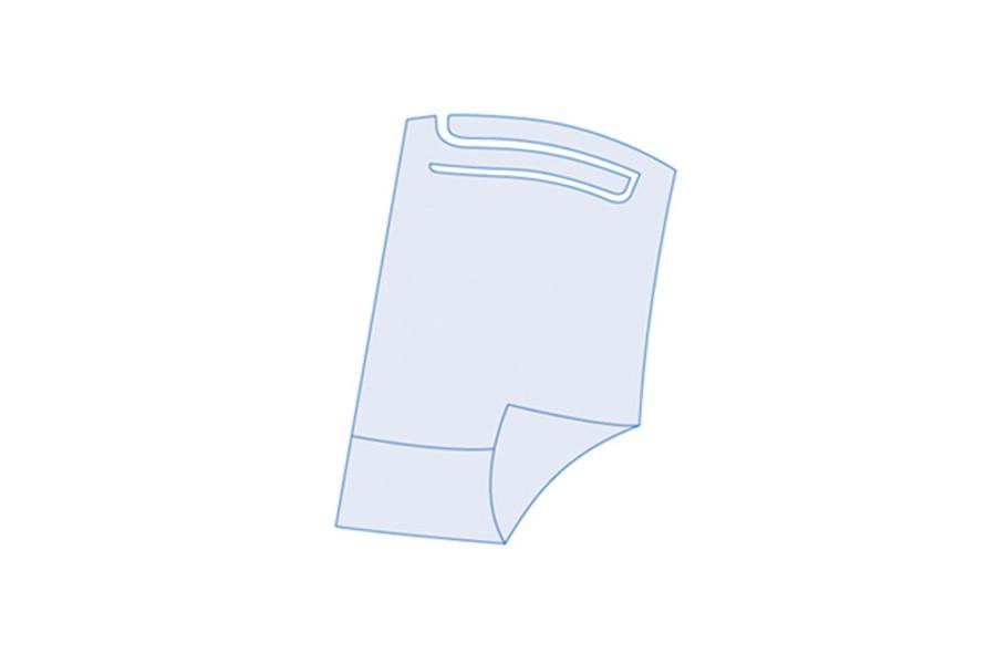 Babete Impermeável Azul com Bolsa (100 unidades)