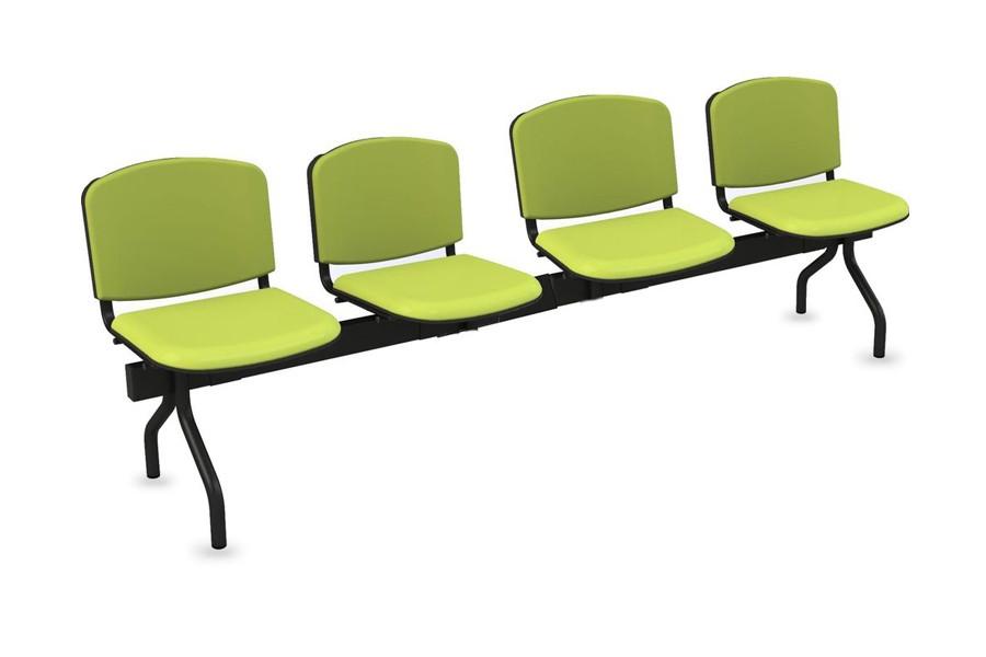 Cadeiras de Sala de Espera/Recepção 4 Lugares (Estofado)