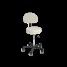 Cadeira Giratória de Elevação Hidráulica - Creme ⚡️Oferta Flash⚡️