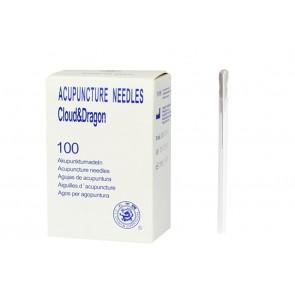 Agulhas de Acupunctura Com Guia - 0,30 x 40 mm (100 unidades)