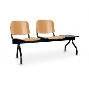 Cadeiras de Sala de Espera/Recepção 2 Lugares (Faia) + Mesa