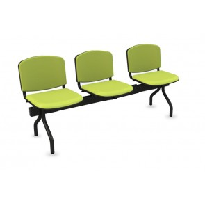 Cadeiras de Sala de Espera/Recepção com 3 Lugares (Estofado)