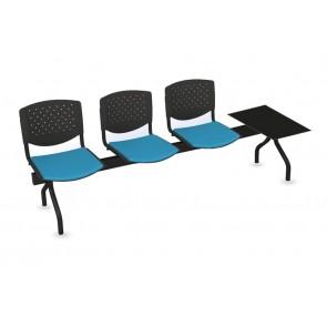 Cadeiras de Sala de Espera/Recepção 3 Lugares + Mesa