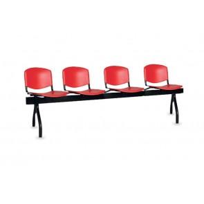 Cadeiras de Sala de Espera/Recepção 4 Lugares (PVC)
