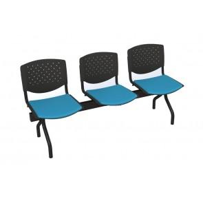 Cadeiras de Sala de Espera/Recepção com 3 Lugares