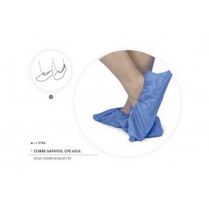 Cobre Sapatos Descartáveis Azuis em CPE - 100 Unidades