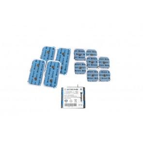 Pack Compex Bateria + 8 Eléctrodos 5x5 cm + 4 Eléctrodos 5x10 cm