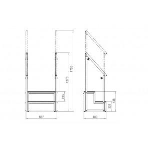 Escada Modular 2 Degraus