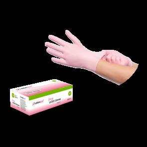 Luvas De Látex Rosa, Sem Pó - 100 unidades - Tamanho L