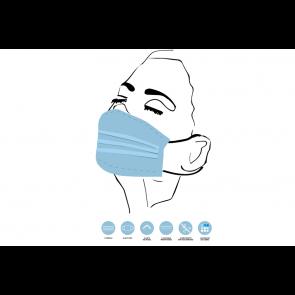 Máscaras Comunitárias Reutilizáveis - 10 Unidades