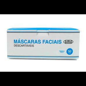 Máscaras Cirúrgicas de 3 Camadas com Elásticos - 50 unidades