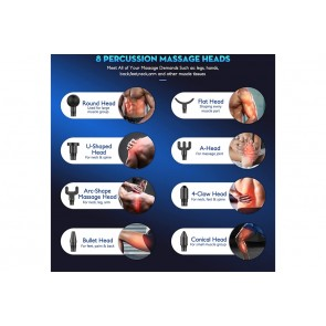 Pistola de Massagem - Massage Gun com 8 Cabeças ⚡️
