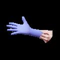 """Luvas de Nitrilo Sem Pó """"Pluma"""" Azul-Violeta"""